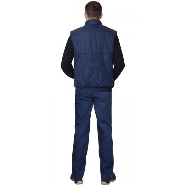 """Жилет """"ЕВРОПА"""" удлиненный (на подкладке флис) темно-синий купить в Арзамасе"""