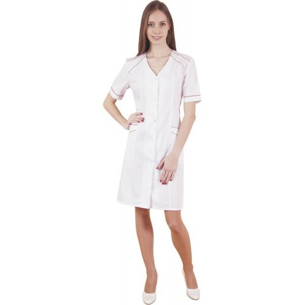 Халат медицинский женский М-022 (тиси) купить в Арзамасе