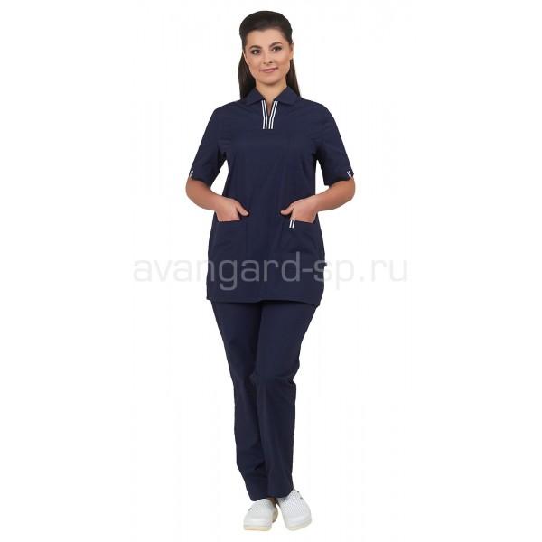 Комплект женский Аура (темно-синий) купить в Арзамасе