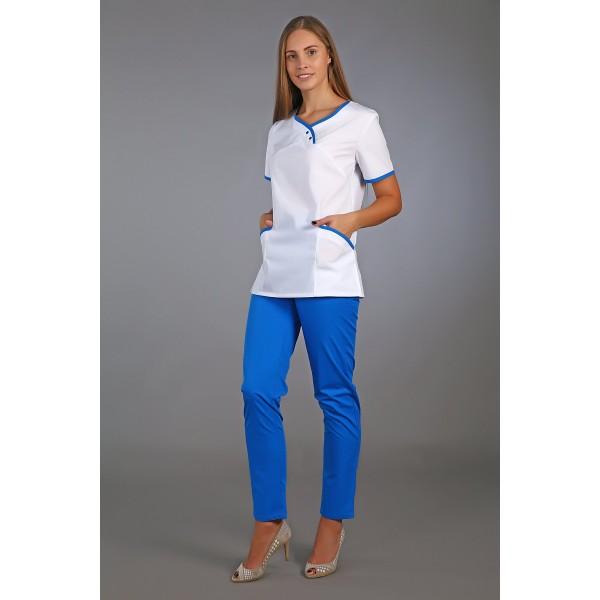 Костюм медицинский женский (тиси) синий купить в Арзамасе