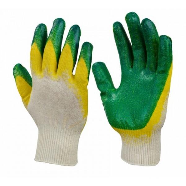 Перчатки хб с  двойным латексным обливом купить в Арзамасе