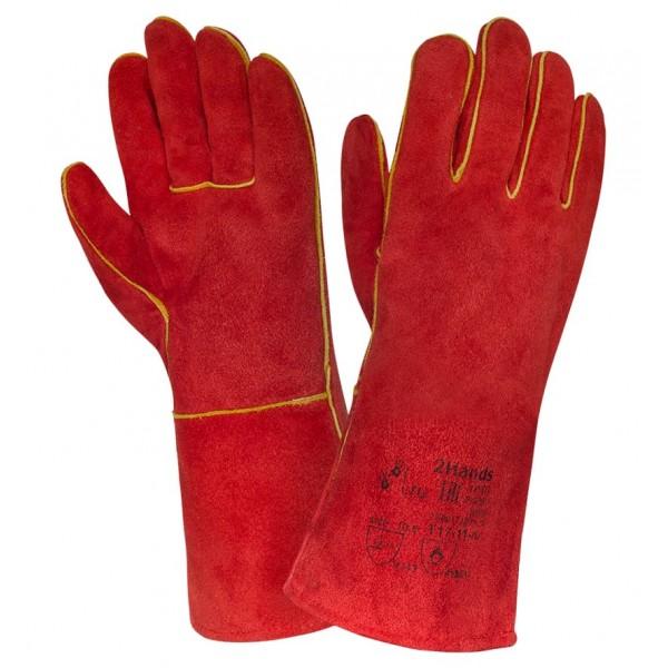 Краги спилковые красные  «Трек»   купить в Арзамасе