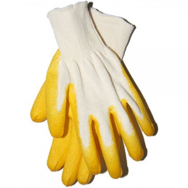 Перчатки хб с  одинарным латексным обливом купить в Арзамасе