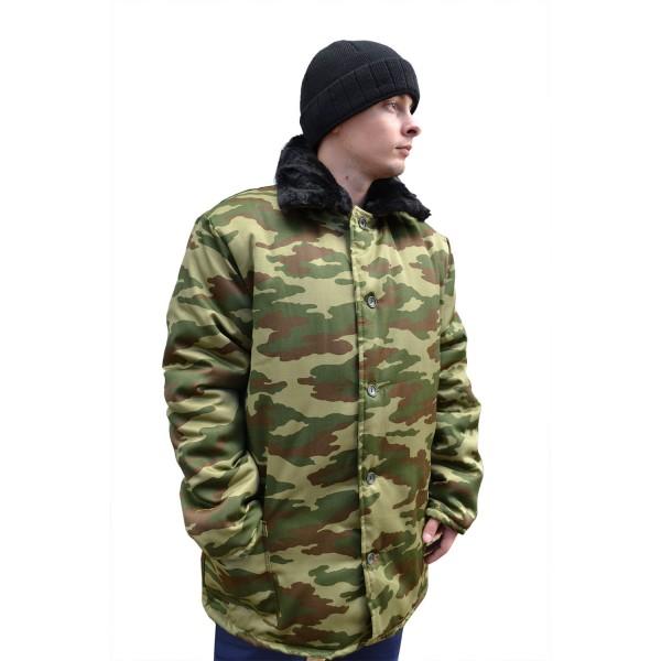 Куртка утепленная КМФ с меховым воротником  купить в Арзамасе
